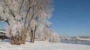 Bootshaus im Schnee